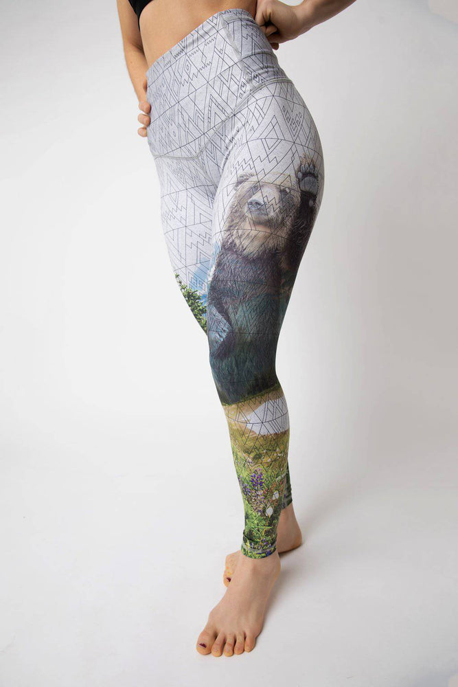 "BeWildHer Athletic Tights - ""Hello Bear"""