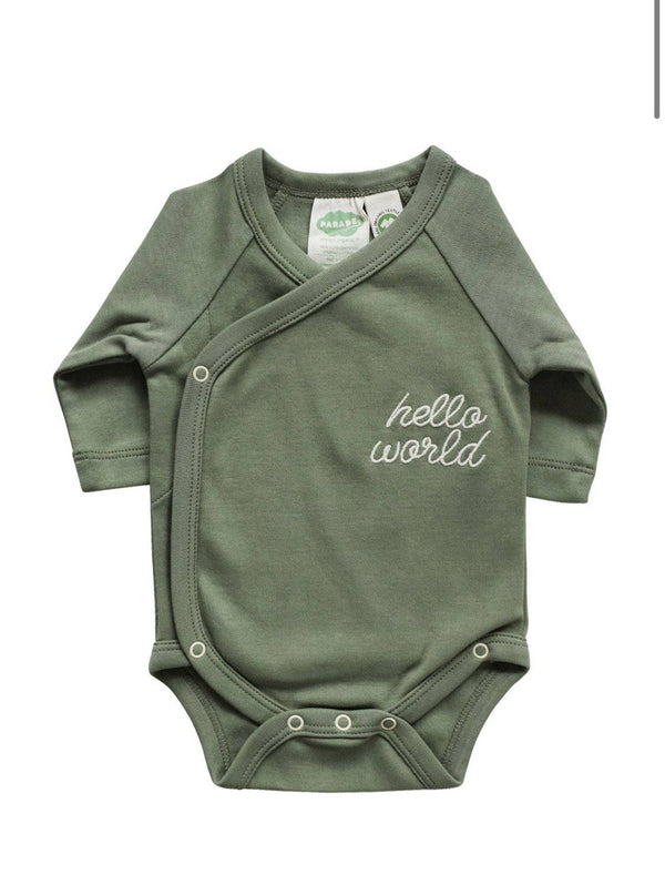 "Certified Organic Onesies ""Hello World"" - West Coast Mamas"