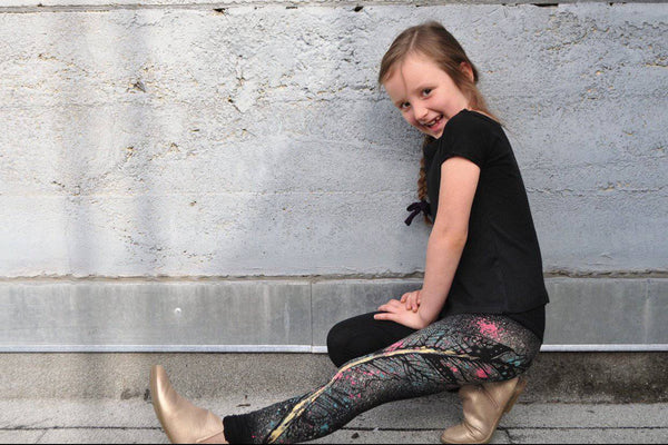 Kids Painted Feather/Unicorn Leggings - West Coast Mamas