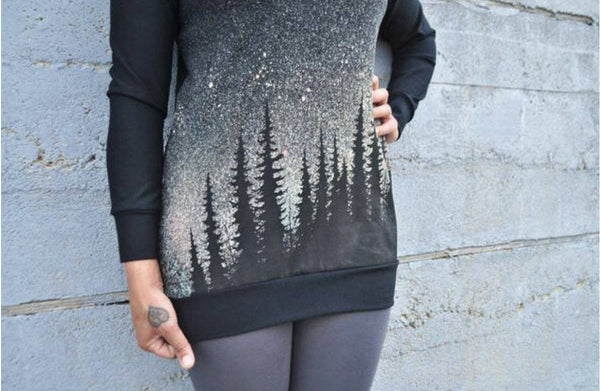 Starry Night Boyfriend Sweater - West Coast Mamas