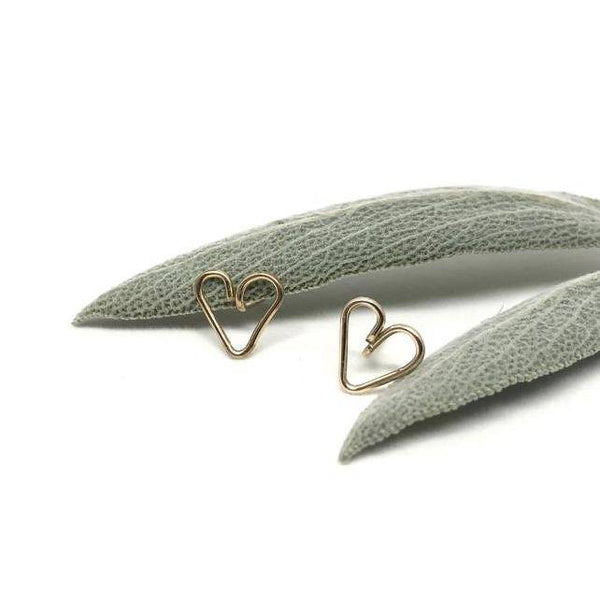 Gold Heart Studs - West Coast Mamas