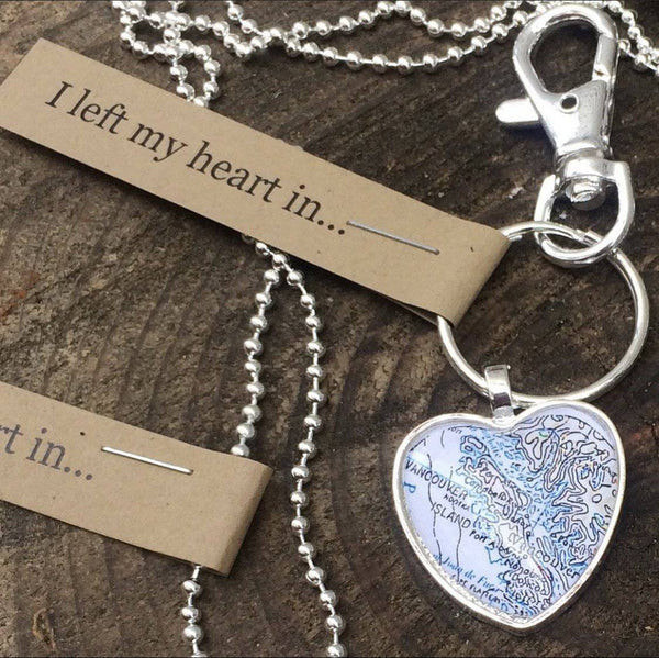 I Left My Heart In... key chains - West Coast Mamas