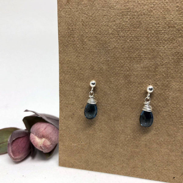 Silver Linnaea Earrings (stone options)