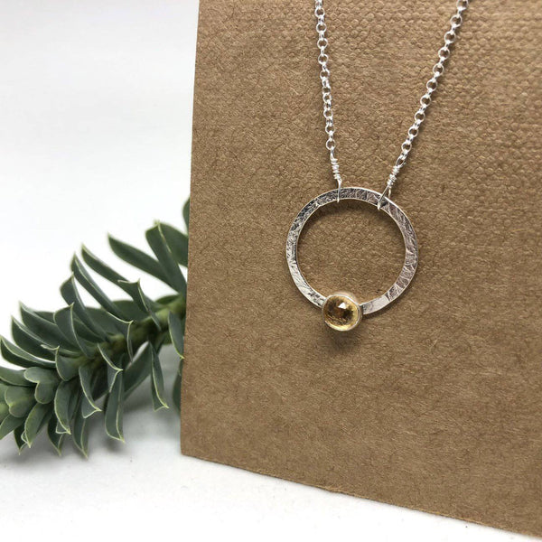 Silver Jupiter Necklace by Naked Sage