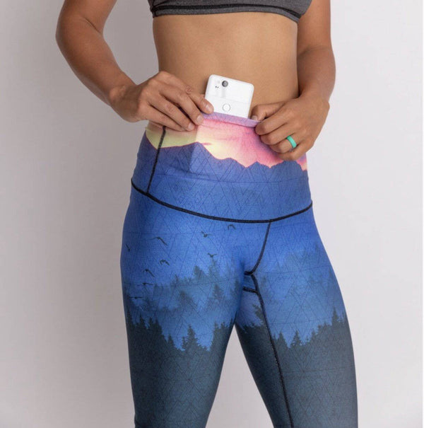 The Surreal Sunrise Leggings Capri & Regular