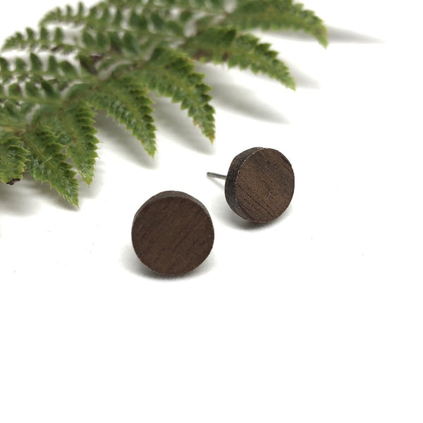Maple Wood Mini Studs by Naked Sage - West Coast Mamas