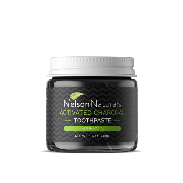 Activated Charcoal Peppermint Toothpaste by Nelson Naturals 45G - West Coast Mamas