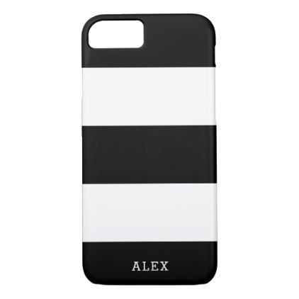 Black and White Stripes With Custom Name