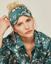 Silk Eye Mask - Beverly Hills Green Loungewear, Pyjama, Silk, Seide, Schlafanzug | RADICE