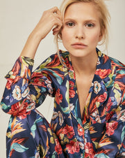Elisabetha Urban Jungle - Top Loungewear, Pyjama, Silk, Seide, Schlafanzug | RADICE