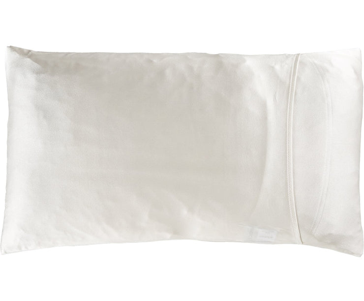 Jana Set - Silk Pillow Case & Eye Mask in Moonlight White Loungewear, Pyjama, Seidenpyjama, Schlafanzug | RADICE