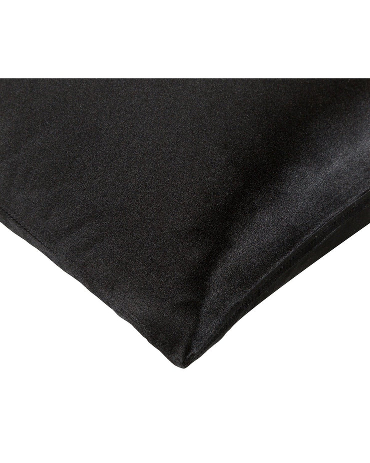 Silk Pillow Case in Midnight Black (80x40cm, 80x80cm)