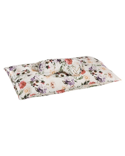 Jana Travel Set - Silk Cushion Case & Eye Mask in Ravello Florals Loungewear, Pyjama, Silk, Seide, Schlafanzug | RADICE