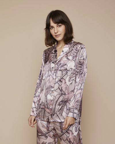 Elisabetha in Jamaican Dawn - Top Loungewear, Pyjama, Silk Pyjama, Nightwear | RADICE