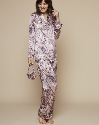 Elisabetha in Jamaican Dawn - Loungewear Bottom, Pyjama, Silk Pyjama, Nightwear | RADICE