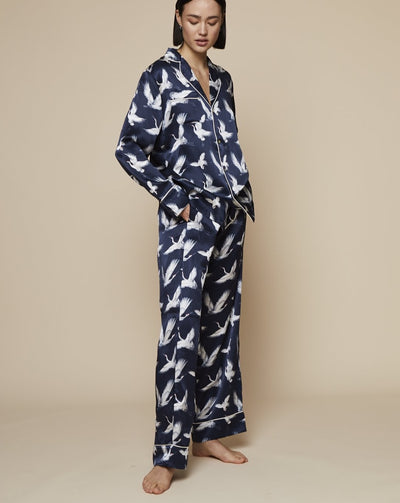 Elisabetha in Aves - Loungewear Bottom, Pyjama, Silk Pyjama, Nightwear | RADICE