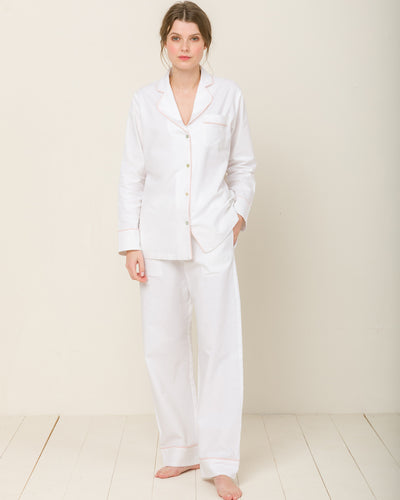 Sophia in Moonlight White - Bottom Loungewear, Pyjama, Seidenpyjama, Schlafanzug | RADICE
