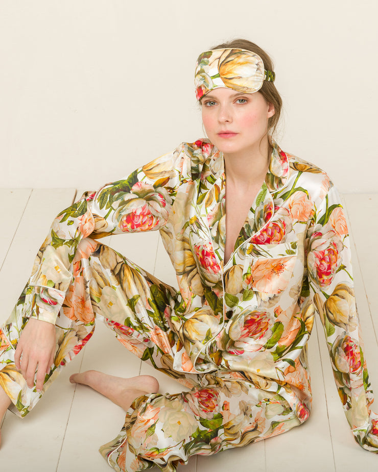 Silk Eye Mask in Vendome Park Loungewear, Pyjama, Seidenpyjama, Schlafanzug | RADICE