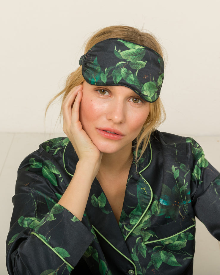 Silk Eye Mask in Lavin Forest