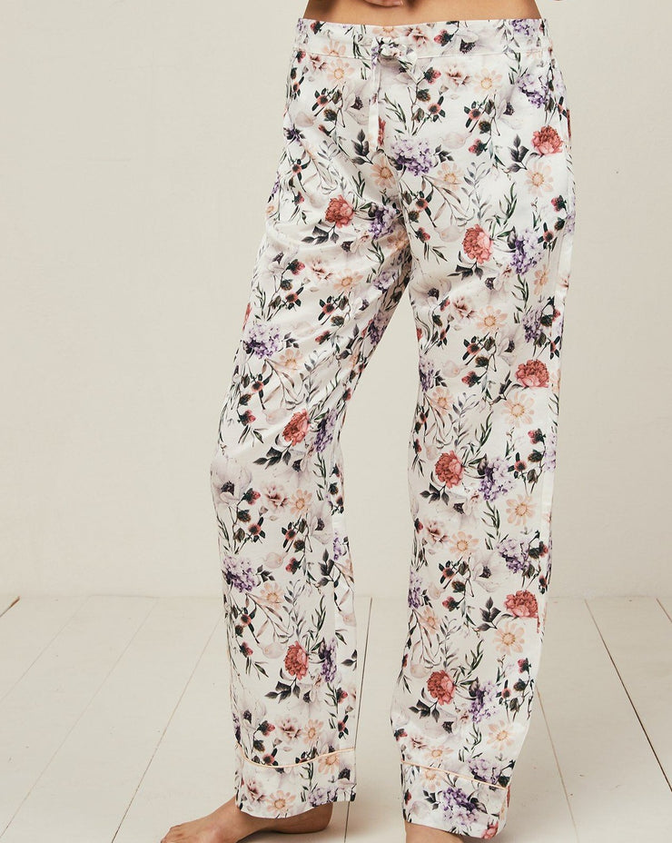 Ronja Cotton Silk Pyjama in Ravello - Bottom Loungewear, Pyjama, Silk, Seide, Schlafanzug | RADICE