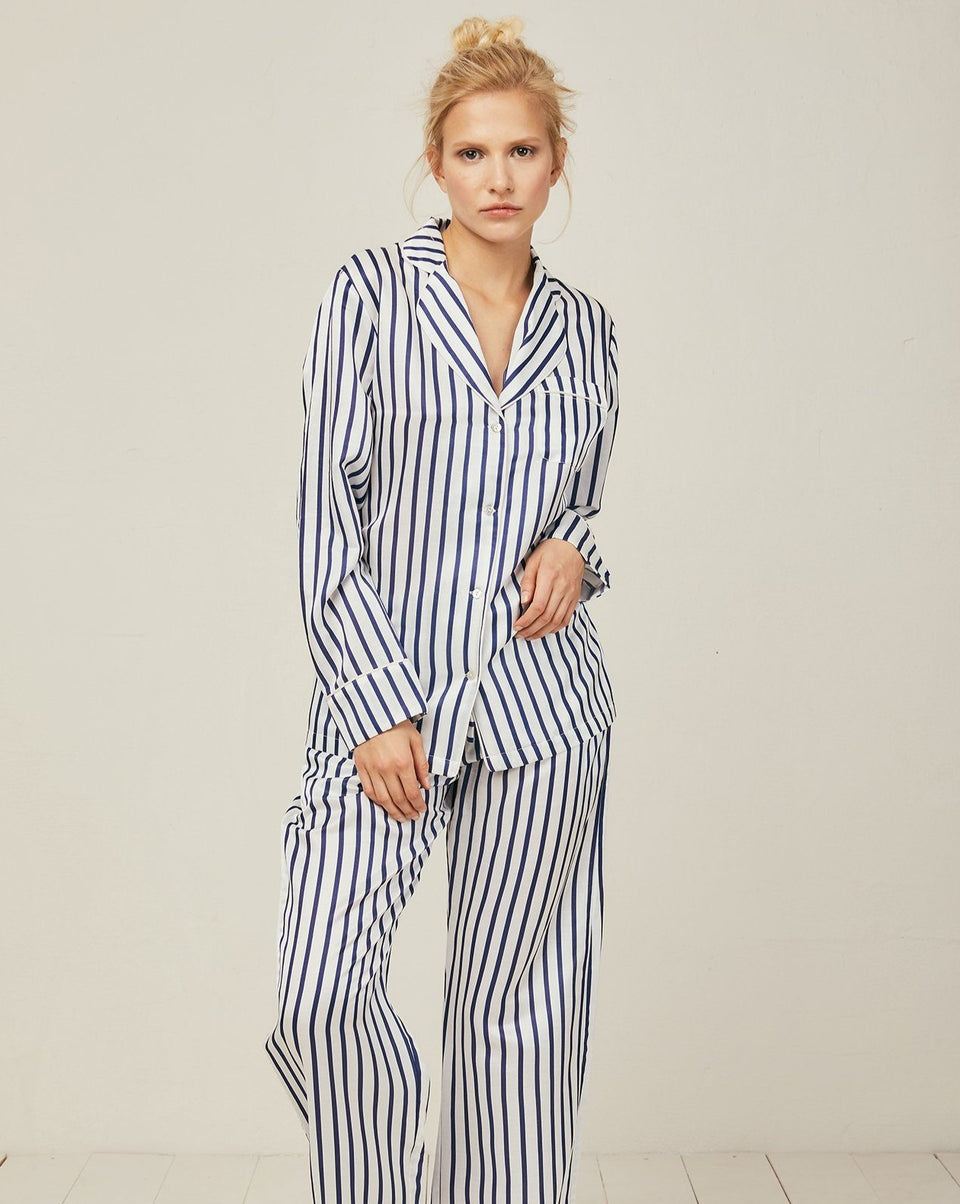 Ronja Cotton Silk Pyjama in Capri - Bottom Loungewear, Pyjama, Silk, Seide, Schlafanzug | RADICE