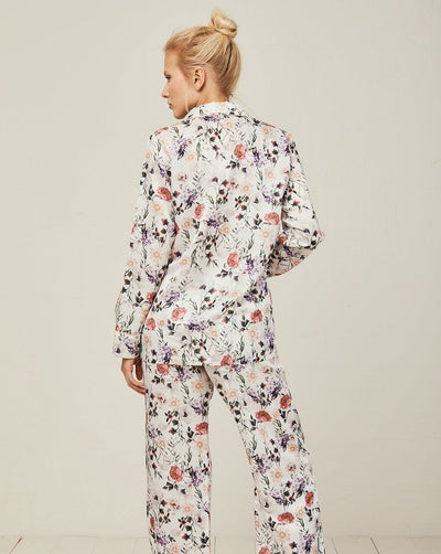Ronja Cotton Silk Pyjama in Ravello - Bottom Loungewear, Pyjama, Seidenpyjama, Schlafanzug | RADICE