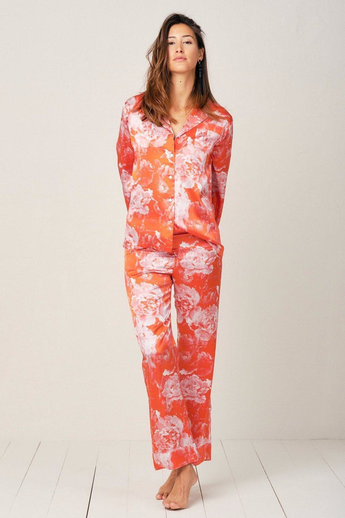 Elisabetha Pyjama in Tea Garden Red - Top - Pyjama Top | RADICE