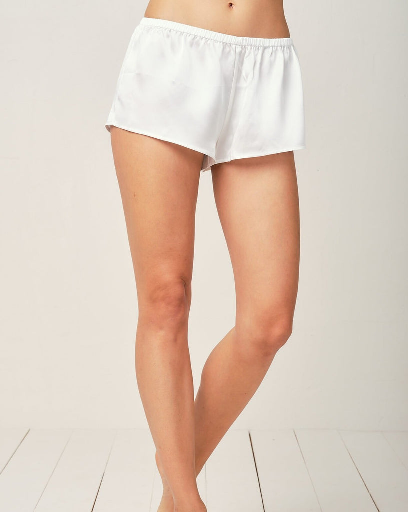 Thera Silk Cami in Moonlight White - Short Loungewear, Pyjama, Silk, Seide, Schlafanzug | RADICE