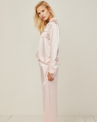 Elisabetha Silk Pyjama in Candy Rose - Bottom