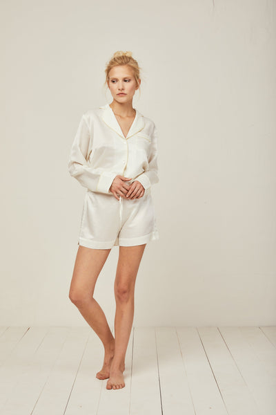 Ronja Cotton Silk Pyjama in Scala Sun - Top Loungewear, Pyjama, Silk, Seide, Schlafanzug | RADICE
