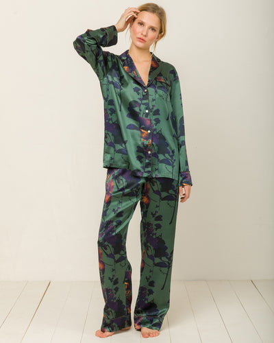 Elisabetha in Night Garden - Bottom Loungewear, Pyjama, Seidenpyjama, Schlafanzug | RADICE