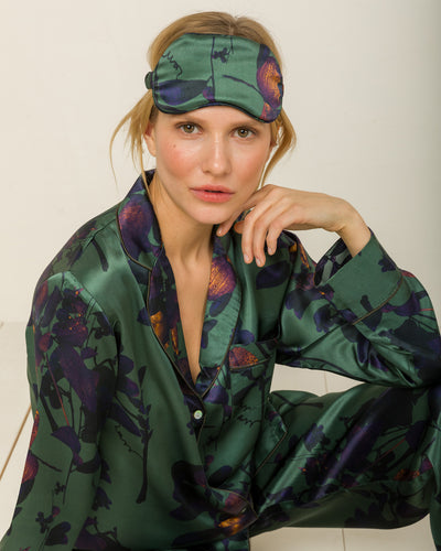 Silk Eye Mask in Night Garden Loungewear, Pyjama, Seidenpyjama, Schlafanzug | RADICE