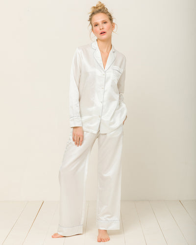 Ronja in Snow Love - Bottom Loungewear, Pyjama, Seidenpyjama, Schlafanzug | RADICE