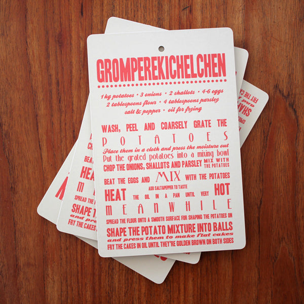Gromperekichelchen Chopping Board in English