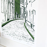 Green Rue du Nord A3 Screen Print