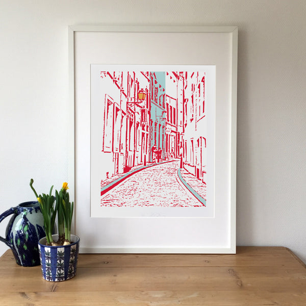 Red Rue du Nord Print
