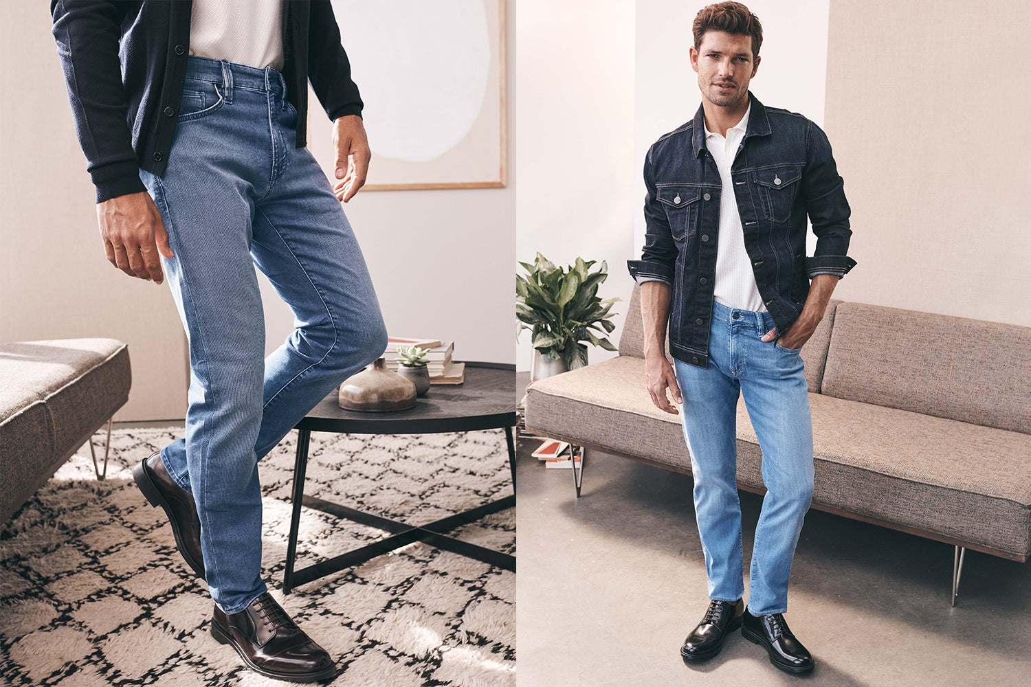 34 Heritage Courage Straight Leg Jeans for Men