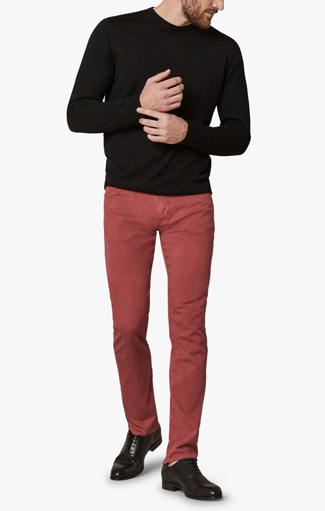 Cool Slim Leg Pants in Brick Dust Soft Touch