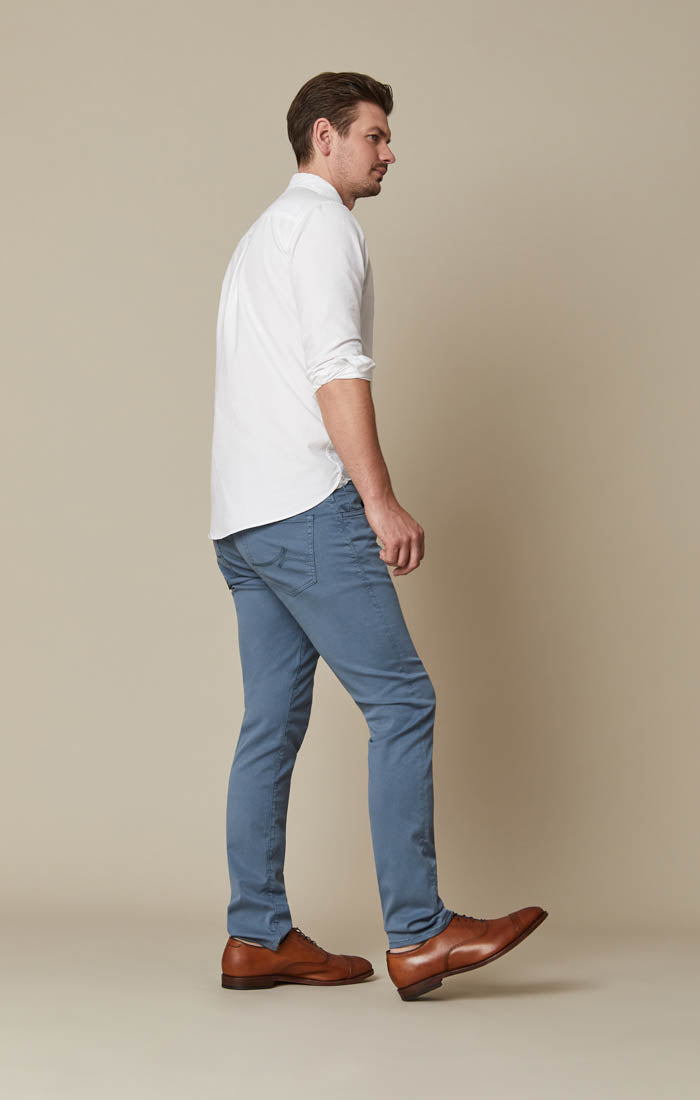 Cool Slim Leg Pants in Chine Blue Soft Touch