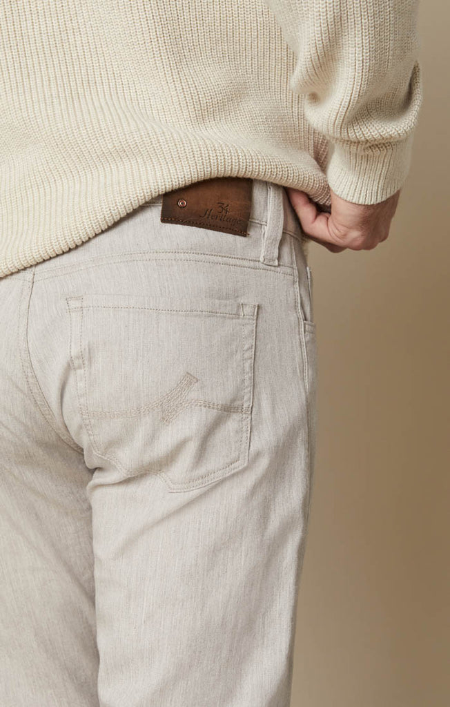 Cool Slim Leg Jeans in Beige Cashmere