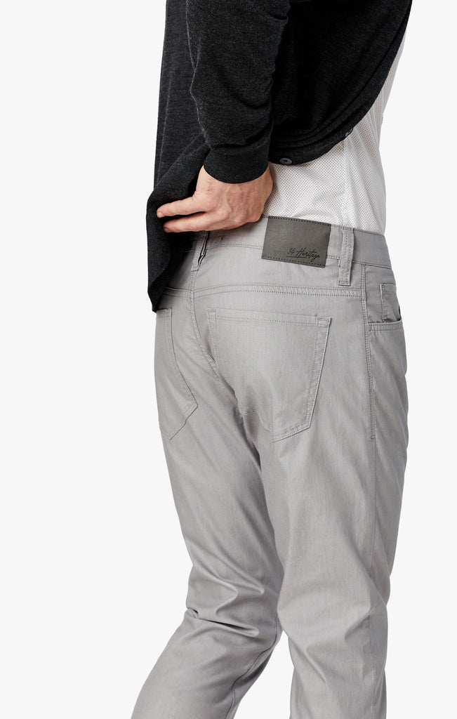 Cool Slim Leg Pants in Grey Reversed Twill