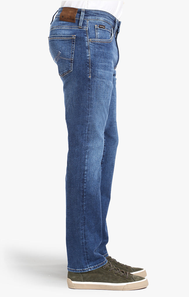 COOL TAPERED LEG JEANS IN MID INDIGO CASHMERE - 34 Heritage Canada