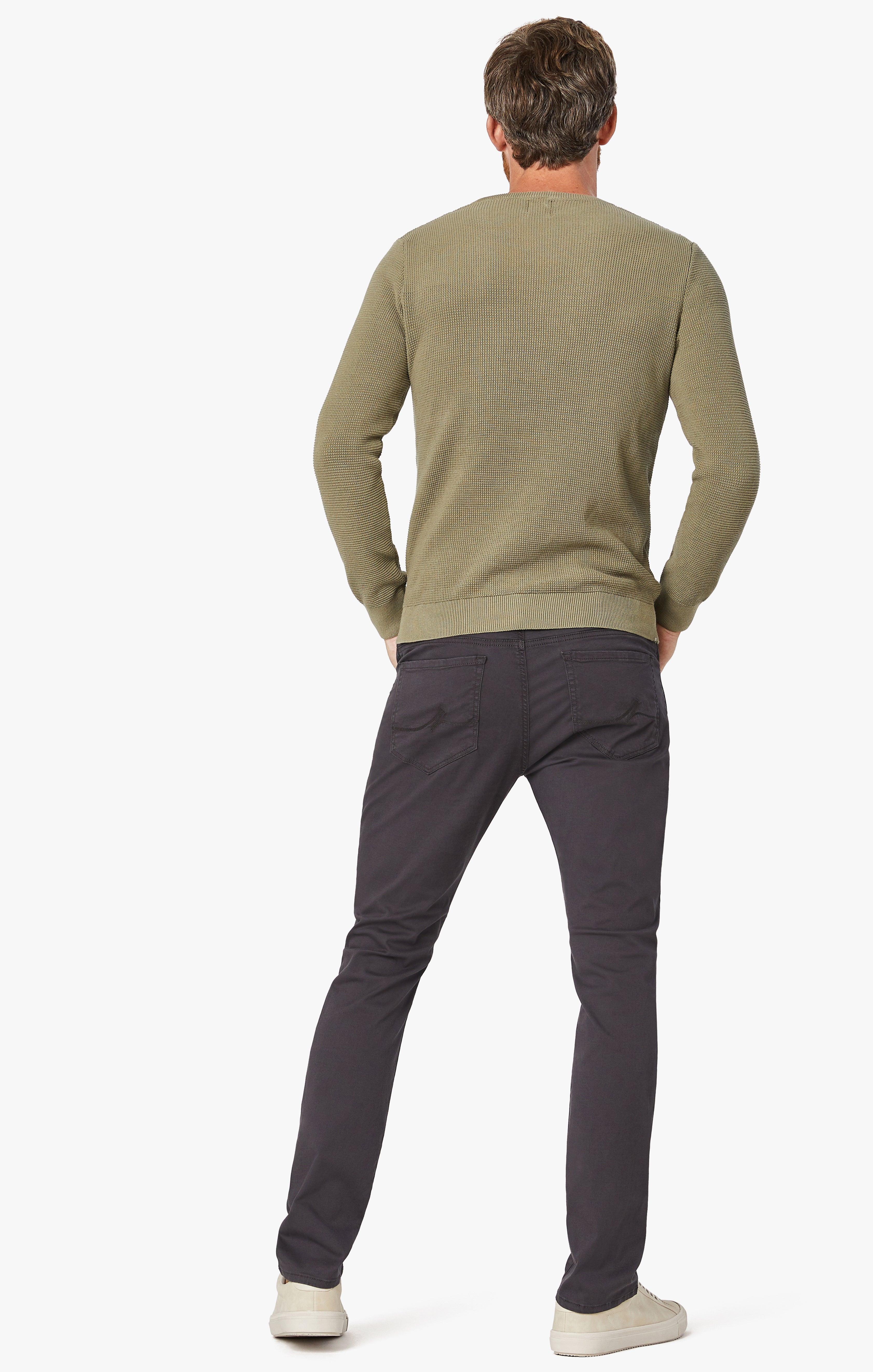 Cool Tapered Leg Pants In Anthracite Twill Image 4