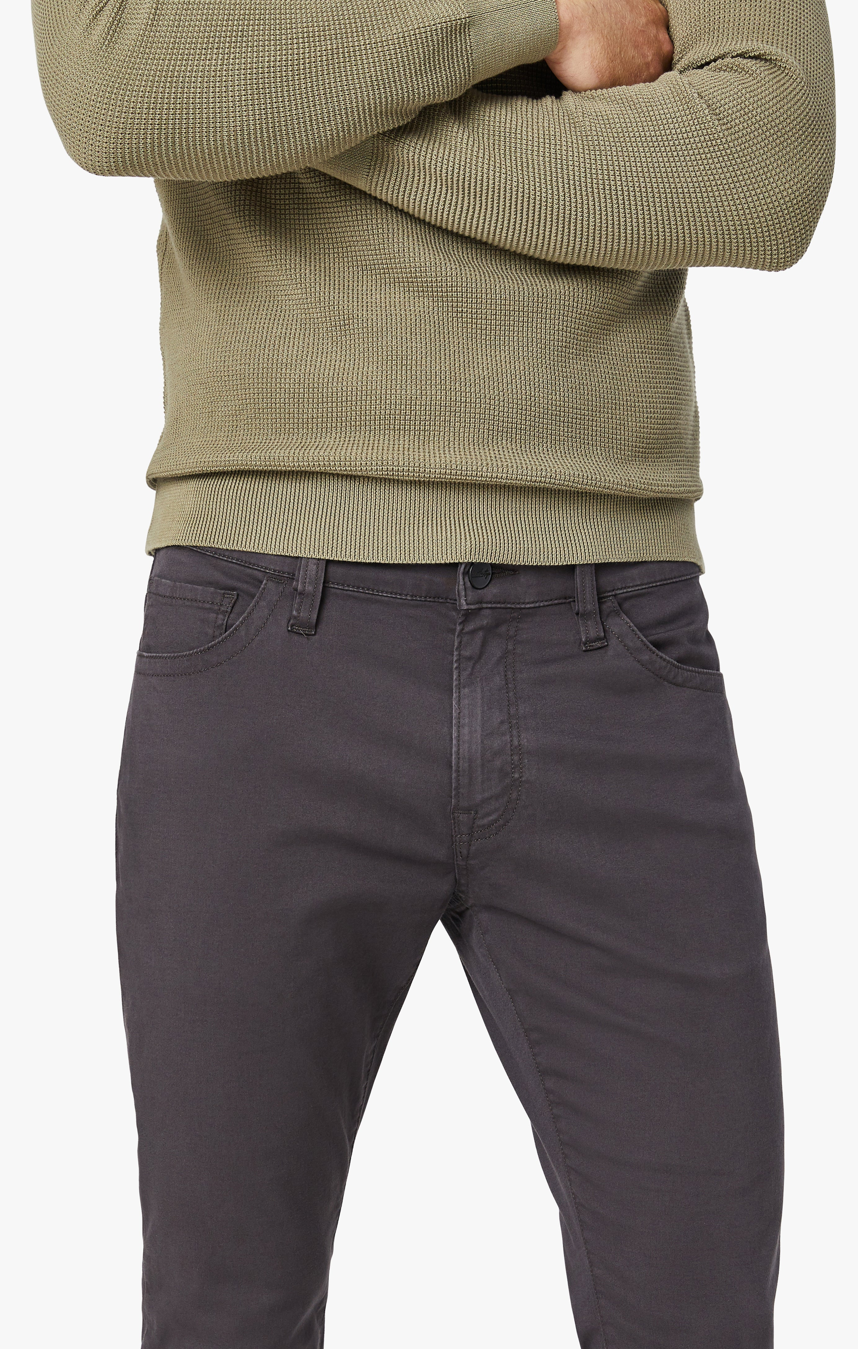 Cool Tapered Leg Pants In Anthracite Twill Image 6