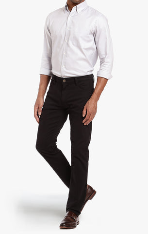 COOL TAPERED LEG PANTS IN BLACK FINE TWILL - 34 Heritage Canada