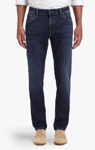 COOL TAPERED LEG JEANS IN DEEP INDIGO CASHMERE