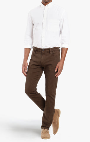 COOL TAPERED LEG PANTS IN BROWN DIAGONAL