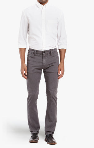 COOL TAPERED LEG PANTS IN GREY DIAGONAL