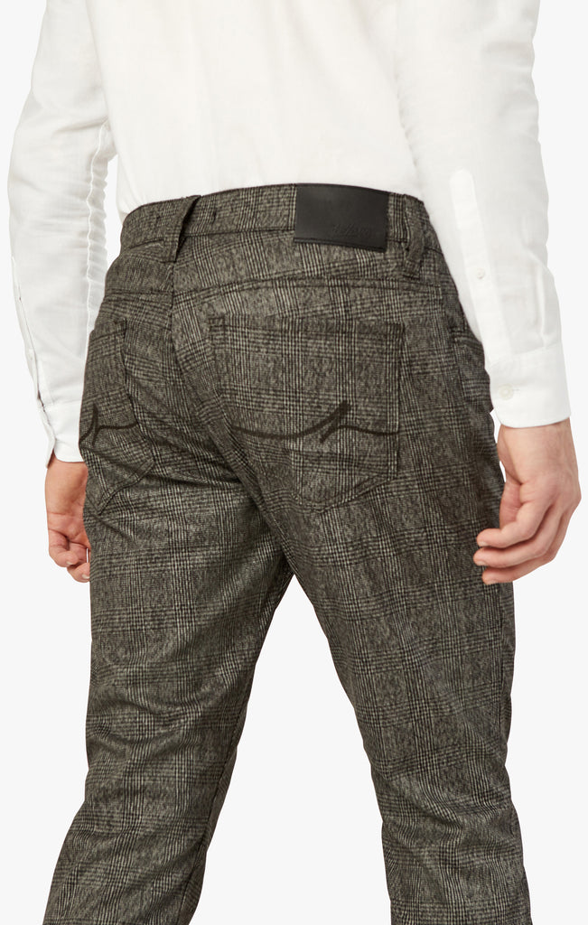 Cool Slim Leg Pants In Grey Checked