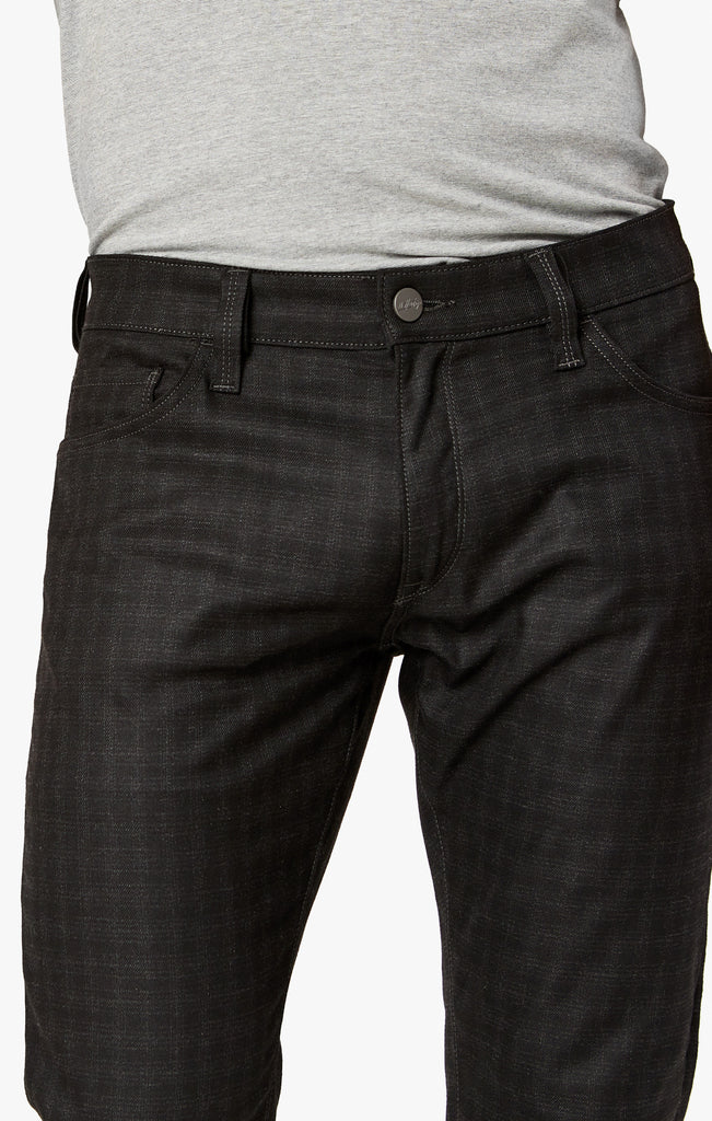Cool Slim Leg Pants In Black Checked